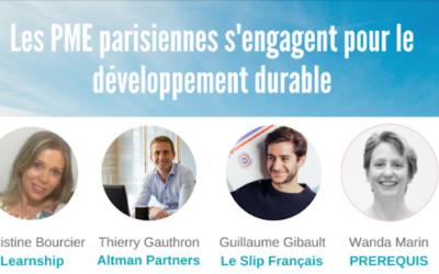 Les PME Parisiennes s'engagent pour le développement durable