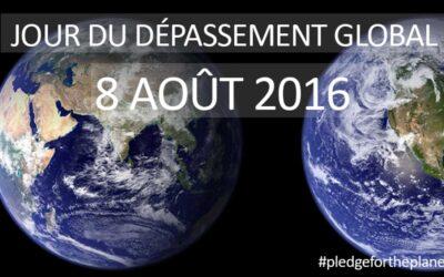 Le 8 août : le jour du dépassement 2016